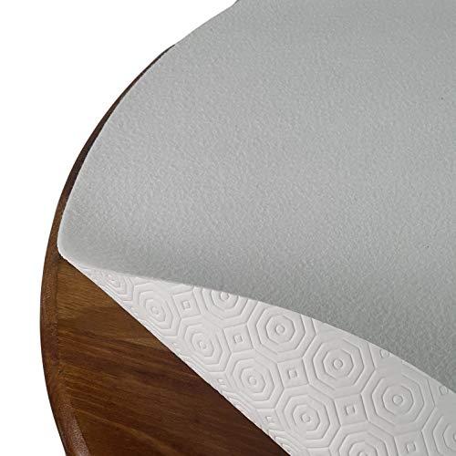 DecoHomeTextil Tischpolster Tischschoner Schutzbelag Größe und Farbe wählbar Rund 110 cm Weiss Tischschutz Molton Auflage Schoner Unterlage