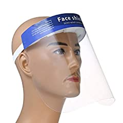😷Optically clear, no distortion free wrap-around face shied. 😷The foam strip and fixing devic holds shield away from face, allowing room for goggles. 😷Lightweight and comfortable to wear, quick and easy to put on. 😷Elastic band can be adjusted accord...