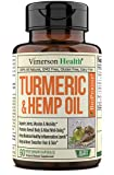 Why choose us: Feeling on edge and scattered? Are you having joint discomfort? Vimerson Health Turumeric Hemp Oil may help you reduce muscle and joint discomfort* and support a balanced inflammatory response* with this perfectly combined daily multiv...