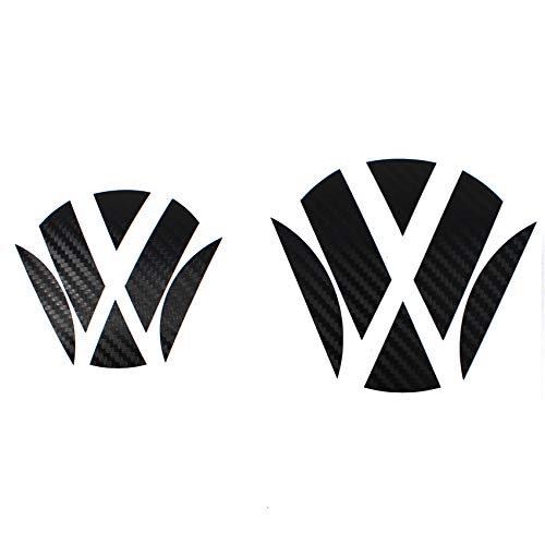 Finest Folia Emblem Ecken Inlays Folie Aufkleber passgenau K006/K007 (.Carbon Schwarz)