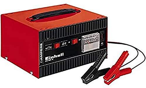 Einhell CC-BC 8 Cargador, Amperómetro Integrado, Rojo, Negro