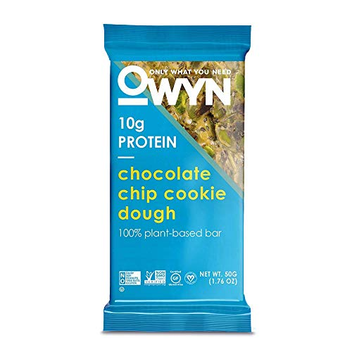 OWYN Only What You Need 100% PlantBased Bars Chocolate Chip Cookie Dough GlutenFree DairyFree SoyFree Allergy Friendly Vegan 12 Pack