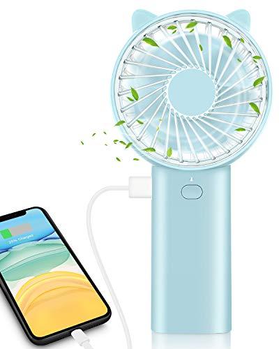 ELEGIANT Mini Ventilador de Mano Portable con Carga USB, Plegable y Portátil,...