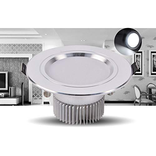 Verlight LED de alta potencia Downlight empotrado integrado Spot de techo redondo Redondo Focos de bajo consumo de energía Sin lámpara estroboscópica Down Home Iluminación para el hogar Hight CRI 80 A