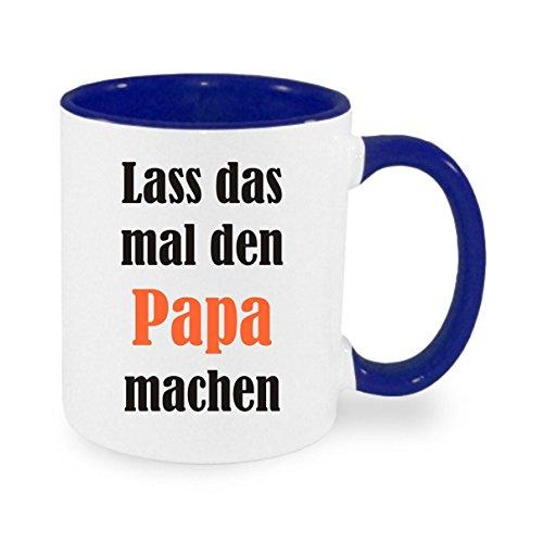 Crealuxe Lass das mal den Papa Machen - Kaffeetasse mit Motiv, Bedruckte Tasse mit Sprüchen oder Bildern