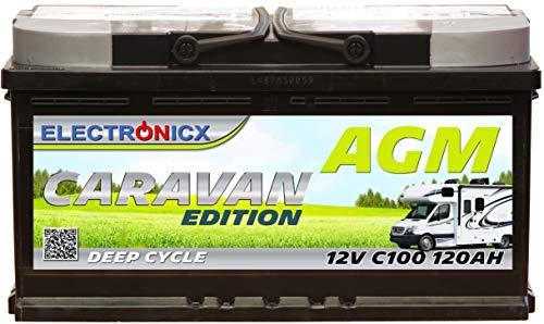 Electronicx Bateria solar AGM 12v 120ah Caravan Edition Caravana Autocaravana Barcos Bateria solar