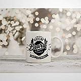 N\A Tazza da caffè Festa del papà Tazza novità Barba Grande Barba Divertente Baffi Tazza da tè in Ceramica Regalo di Compleanno di Natale per Uomo Donna