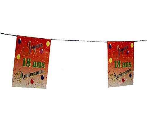 Guirlande Joyeux Anniversaire pour vos 18 ans 8 Pavillons decoration anniversaire jubilé