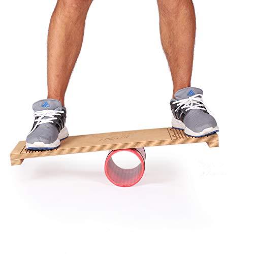 """Diabolo Freizeitsport Balancebrett \""""Rola Bola\"""" für Kinder und Jugendliche, rot - Balance Board bis 300 kg belastbar"""