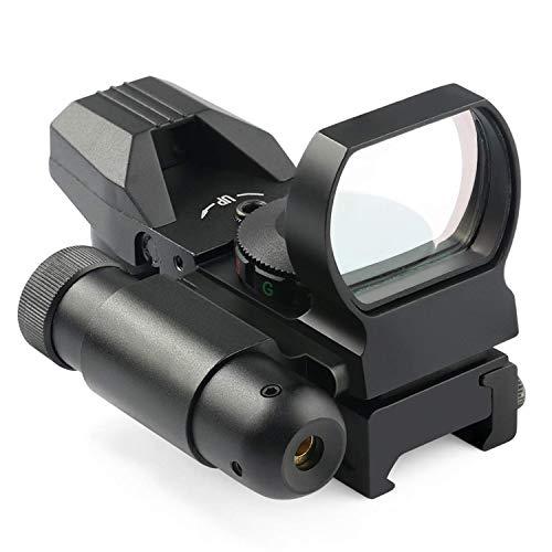 MAYMOC Mira Reflectante -4 retícula óptica de Punto Rojo y Verde con Punto de mira Rojo Integrado de 20 mm