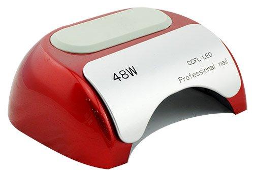 Crisnails® Secador de Uñas de Inducción Automático con Temporizador CCFL + LED UV Lámpara de Luz para Clavo de 110-220V 48W, Varios Colores