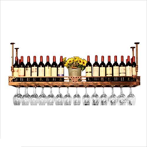 JBNJV Unidad de Bar Estantes flotantes Estantes para Vino Soporte de Pared, Soporte para Copa de Vino Colgante, Estante de Almacenamiento para estantes de Pared, Estante de exhibición de decoració