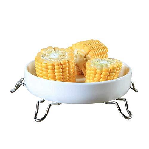 Batterie de cuisine vaisselle Steamer Etuve Food Basket Mesh Steamer inoxydable pliant alimentation fruits légumes vapeur Cuisinière inoxydable (Color : Large size)