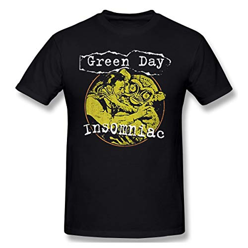 Livetees Green Day Insomniac Free Hugs Band Logo Herren Komfortabel T Shirt Black 3XL
