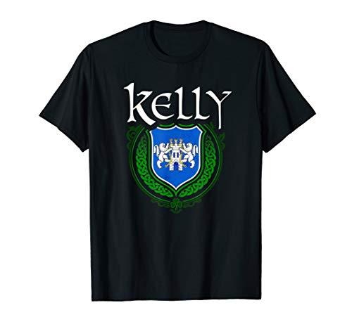 Kelly Surname Irish Last Name Kelly family crest T-shirt