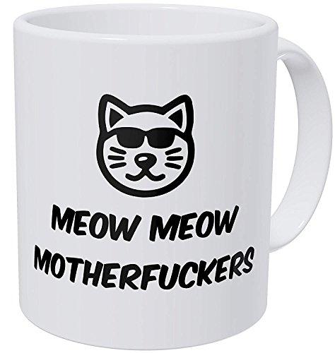 O5KFD & 8 11 ounce Meow Cool Cat Face Glasses 11 ounces Funny Coffee Mok Mok Mok keramiek gepersonaliseerde mok - Chanukka