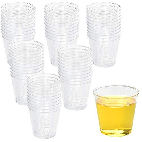FOCCTS 300 Stück Plastikbechern aus Polystyrol durchsichtigen Plastikbechern 30 ml Fassungsvermögen Tasse, Messbechern, zum Trinken von Bier/Wasser/Camping/Heißgetränk/Saft/Party