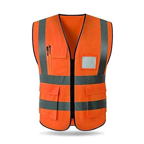 Chaleco de seguridad reflectante de alta visibilid Correr la noche de chaleco de seguridad, accesorios al aire libre, brillante chaleco fluorescente con bolsillo chalecos de seguridad reflectantes par