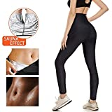 SHENGMI Neoprene Sweat Pants for Weight Loss,Sauna Suit for Women,Boxing Gym Sweat Pants Workout,Anti Cellulite Compression Leggings (L)