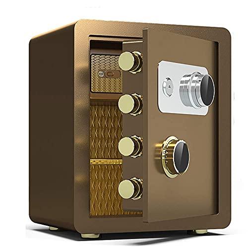 Worth having - Seguro para la oficina en el hogar, la contraseña mecánica segura de la contraseña y la clave de emergencia a prueba de incendios y la clave de emergencia para abrir con la caja fuerte