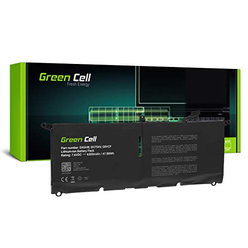 Green Cell Akku fur Dell XPS 13 9370 9380 Laptop 6300mAh 76V Schwarz