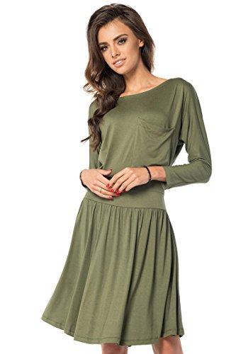 AE dames jurk klassieke mini-jurk lange mouwen top maat 36 38 40 42 44 46