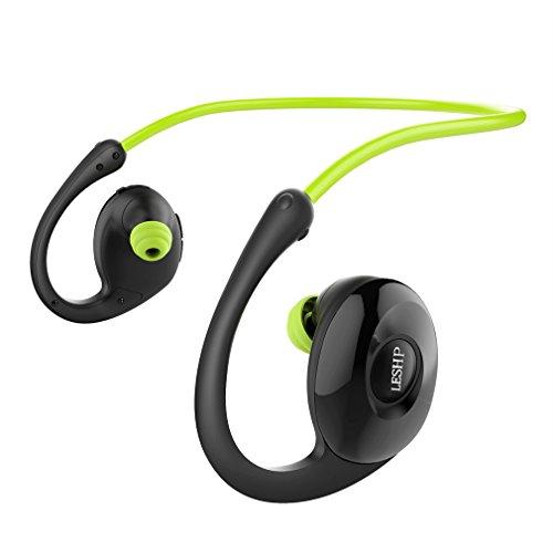 Leshp New Bee NB-7 Sporthoofdtelefoon, bluetooth, NFC-koptelefoon, pedometer, in-ear geluid, storning, sweatproof sporthoofdtelefoon, comfortabele oordopjes, stand-by-tijd 60 dagen, voor iPhone, Android, MP3- en meer