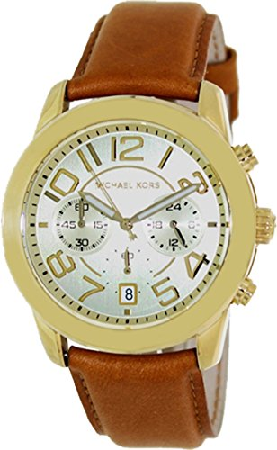 Michael Kors Champagne Dial Brown Leather Ladies Watch MK2251: Watches