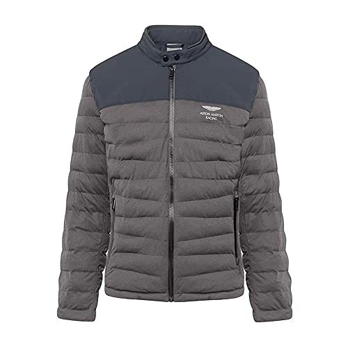 Hackett London Aston Martin Racing - Chaqueta ligera acolchada para hombre, color gris oscuro (3XL) (3XL)