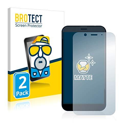 BROTECT 2X Entspiegelungs-Schutzfolie kompatibel mit Shiftphones Shift6m Bildschirmschutz-Folie Matt, Anti-Reflex, Anti-Fingerprint