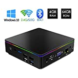 TUREWELL Mini PC, Desktop Computer Windows 10 Intel Z8350, Mini Computer 4GB 64GB 2.4/5GHz WiFi 4K Bluetooth 4.1, Micro PC with USB C HDMI VGA Ethernet Ports