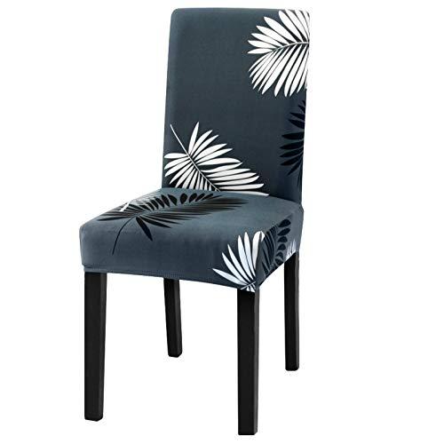 Dioxide Fundas para Sillas Pack de 4 Fundas Sillas Comedor, Fundas Elásticas Chair Covers Lavables Desmontables Cubiertas para Sillas Muy Fácil de Limpiar Duradera - Plumas 🔥