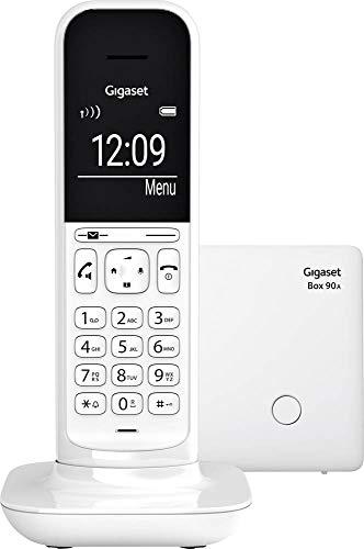 Gigaset CL390A schnurloses Design-Telefon mit Anrufbeantworter - DECT Telefon mit Freisprechfunktion, großem Grafik Display - leicht zu bedienen mit intuitiver Menüführung, Lucent White