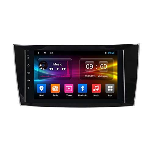 TypeBuilt Android Car Stereo Radio De Coche 9 Pulgadas Unidad Principal Reproductor Multimedia Receptor De Video Carplay para Mercedes Benz W211/G-W463/CLK-W209/CLS-W219 Autoradio Mit Navi,Px5