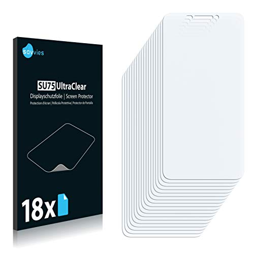 Savvies 18x Schutzfolie kompatibel mit Huawei Ascend G630 Bildschirmschutz-Folie Ultra-transparent