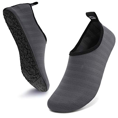 Deevike Badeschuhe Damen Barfussschuhe Herren Wasserschuhe Pool Schuhe Sommer Schwimmschuhe Strandschuhe Aquaschuhe Yoga Socken Grau 40/41