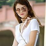 KAYINXLN グラデーションカラー女性シルクスクエアスカーフスプリングビーチタオル (色 : ブラウン, サイズ : 65cm*65cm)