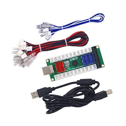 SJ@JXDevelopment Keyboard Encoder Board Game Controller DIY LED KeyboardDevelopment Board Media Music USB Encoder Arcade DIY Kit