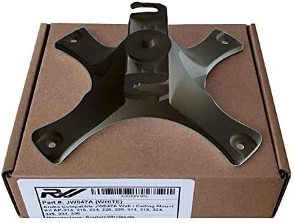RW RoutersWholesale Network Device Wall/Ceiling Mount Kit JW046A Compatible/Replacement for Aruba AP-220-MNT-W1 (Black)