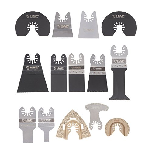 Best Prices! Harpow 14pcs Oscillating Multi Tool Saw Blade Set
