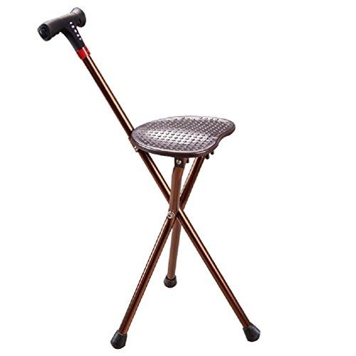 GAOJIAN Béquille de chaise vieil homme radio multifonction en aluminium à chargement par radio avec balançoires à pied léger Télescopage Trekking Polonais