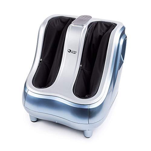 VITALZEN® PRO Masajeador de piernas - Azul (modelo 2021) - Masaje por amasamiento, presión - Reflexología podal, diseñado para aliviar el dolor y tensión muscular en pies, tobillos y gemelos