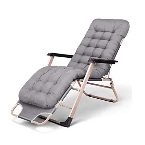Liegestuhl Campingstuhl Klappbare Sonnenliege, Verstellbarer Schwerelosigkeitssitz Schwerlast-Gartenlehne für Patio-Deck-Rasencamping-Entspannungssessel Im Freien Klappbar Liegestuhl ( Color : Gray )