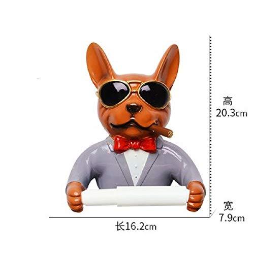 Tissue box LKU Creatieve persoonlijkheid tissue doos toiletpapier doos haai huishoudelijke goederen rolhouder badkamer, 1pcs7