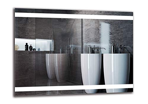 Espejo LED Premium - Dimensiones del Espejo 80x60 cm - Espejo de baño con iluminación LED - Espejo de Pared - Espejo de luz - Espejo con iluminación - ARTTOR M1ZP-27-80x60 - Blanco frío 6500K