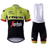 Traje de Ciclismo Hombre de Equipos Profesionales. Culotte y Maillot. Ropa Ciclismo con Badana 12D Gel Pad para MTB...