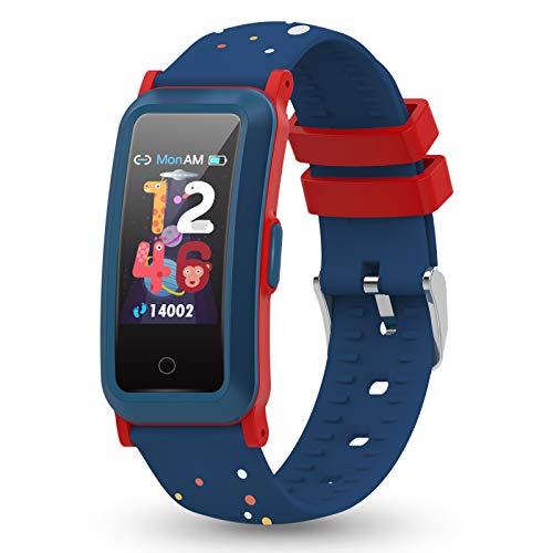 YoYoFit Fitness Armband Kinder Uhr mit Blutdruck, Fitness Tracker mit Pulsmesser und Blutsauerstoff, Schlafmonitor, Schrittzähler, Wasserdicht Aktivitätstracker für Kinder Mädchen Junge Teenager