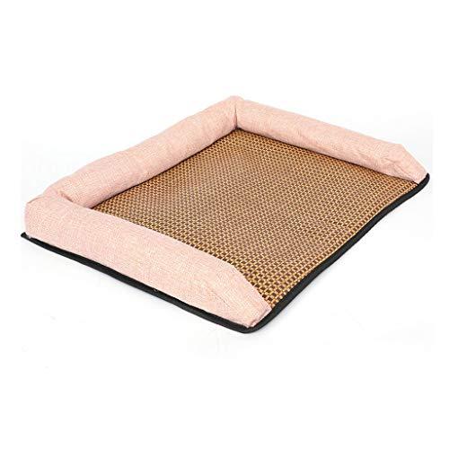 zlw-shop Cama para Mascotas Summer Cool Dog Mat Cat Nest Llevaba un cómodo y Transpirable Mat Dog Sofa Lasting Cooling Cool But Not Ice Pet Supplies Canasta para Mascotas (Color : Pink, Size : L)