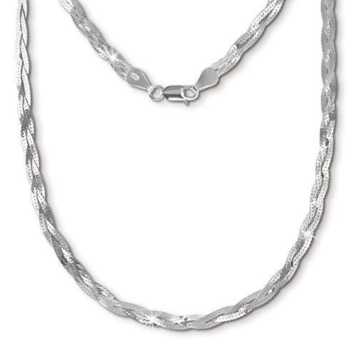 SilberDream geflochten Halskette silber Schmuck 45cm 925 Silber SDK27645J