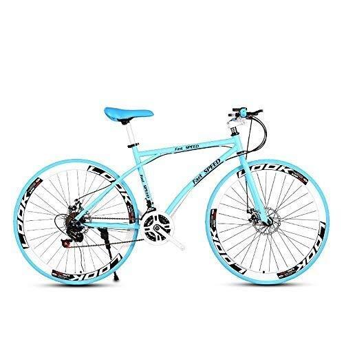 Pumpink Road Bike, da 26 Pollici Biciclette Biciclette da Strada e di Donne degli Uomini, Acciaio al Carbonio Telaio Bici da Corsa, Ruote della Bicicletta della Strada a Doppio Disco Freno Biciclette